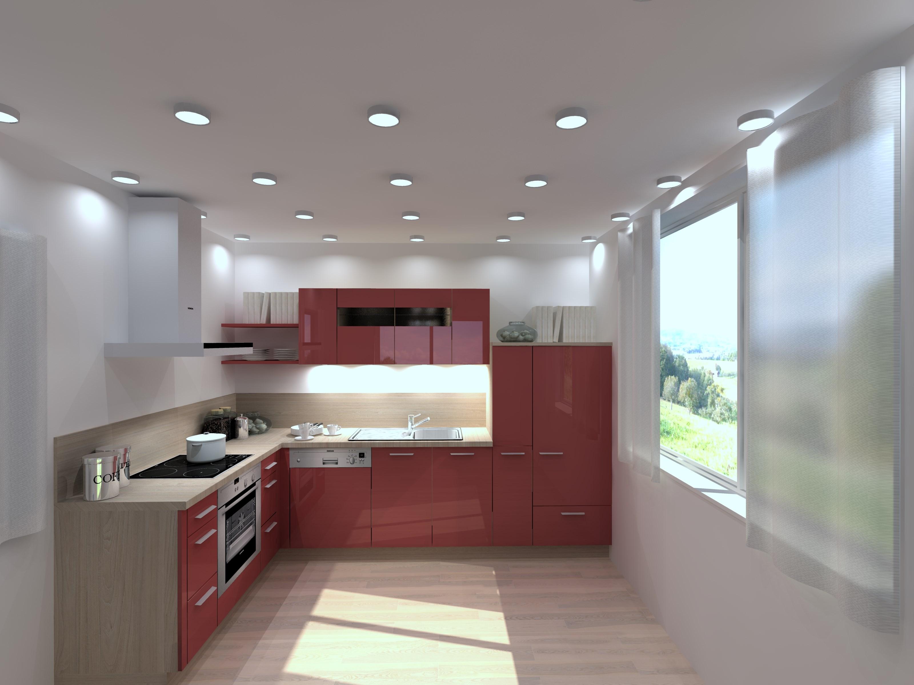 Buc t rii pline de culoare trend lack rosso - Nolte home studio ...